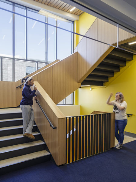 MSSD Secondary School for the Deaf Residence Hall Interior Stairs