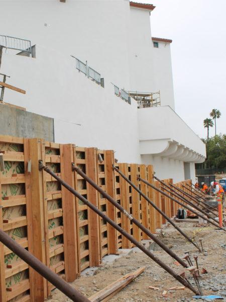 san diego state university aztec retaining wall