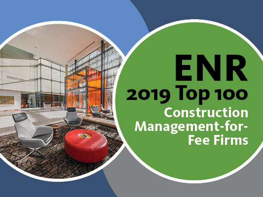 O'Connor joins the ENR 2019 Top 100 Construction Management-for-Fee Firms